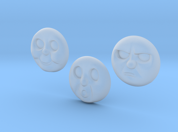 Percy Faces 1-3# [H0/00] in Smooth Fine Detail Plastic