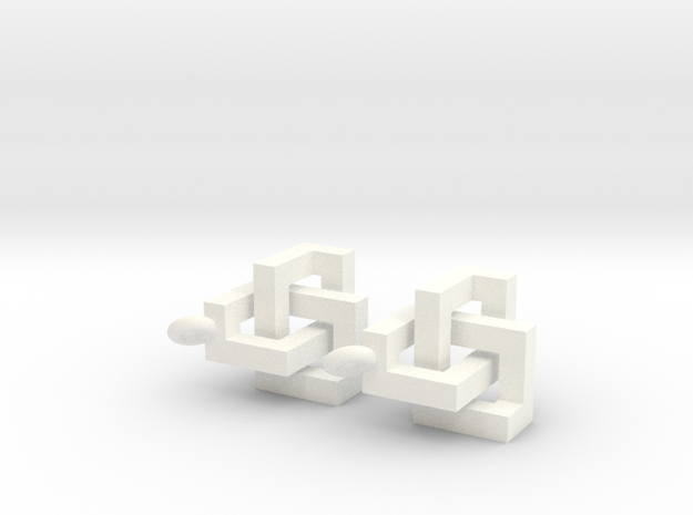 Cubic Knot Earrings 3d printed