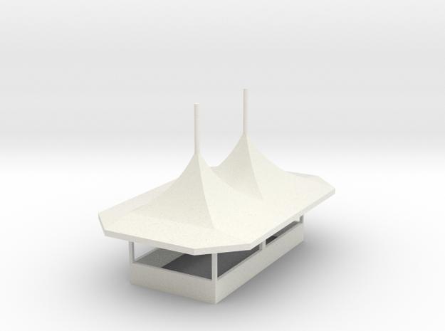 modern Gametent ver.2/2 - 1:87 (H0 scale) in White Natural Versatile Plastic