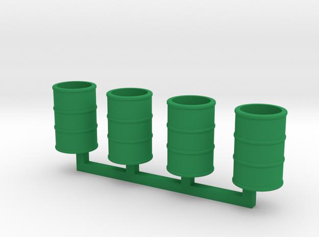Steel Drums 55 Gallon Open in Green Processed Versatile Plastic: 1:64 - S