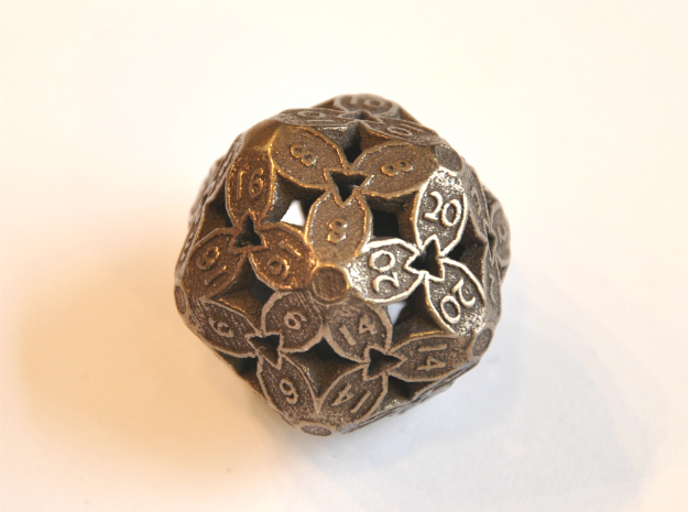 D20 Balanced - Cherry Blossom in Polished Bronze Steel