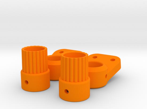 AR60 Spline Adpater and Link Mount in Orange Processed Versatile Plastic
