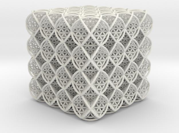 64 Cube of Life  in White Natural Versatile Plastic