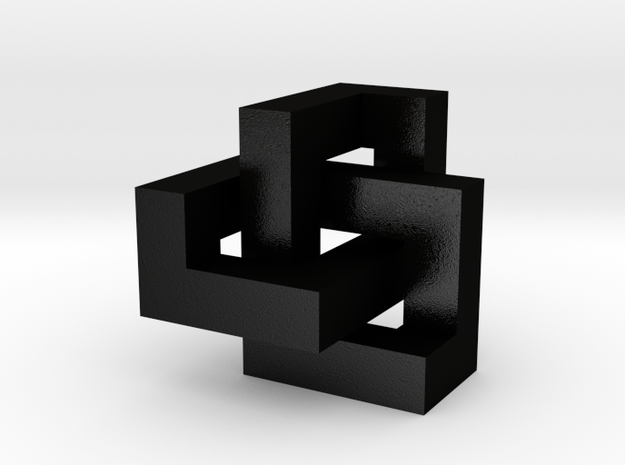 Cubic Trefoil Knot 1inch 3d printed