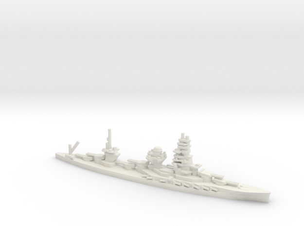 Japanese Ise-Class Battleship in White Natural Versatile Plastic: 1:1800