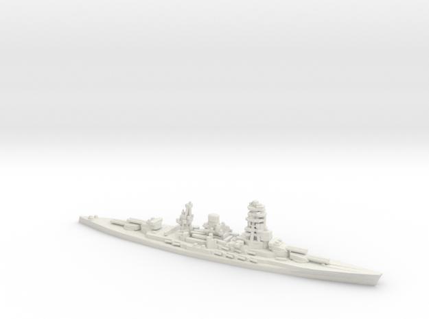 Japanese Nagato-Class Battleship in White Natural Versatile Plastic: 1:1800