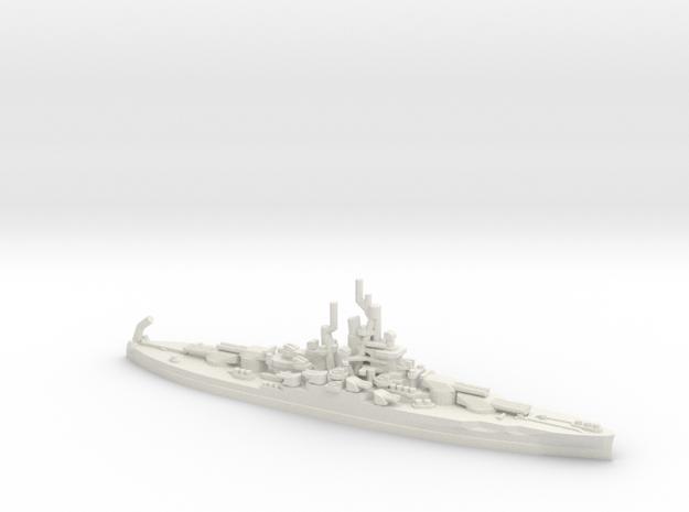US Nevada-Class Battleship in White Natural Versatile Plastic