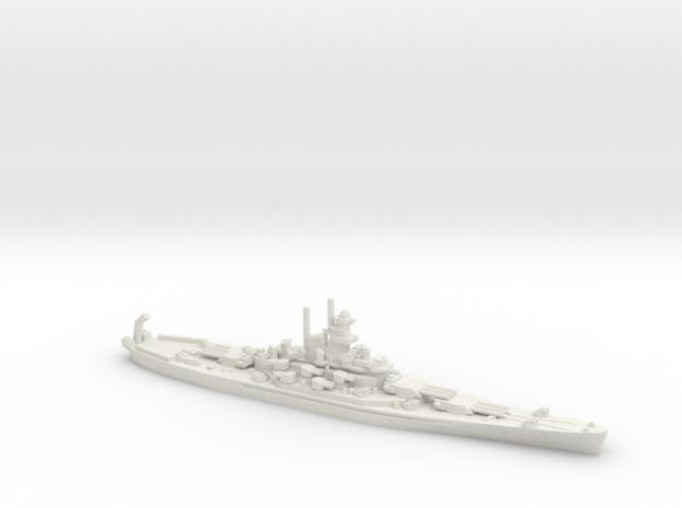 USS Massachusetts (BB-59) in White Natural Versatile Plastic