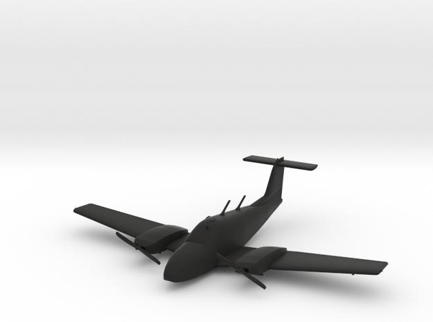Piper PA44 Seminole in Black Natural Versatile Plastic: 1:60