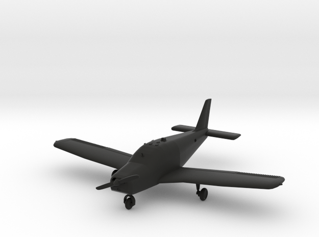 Piper PA-28-140 Cherokee in Black Natural Versatile Plastic