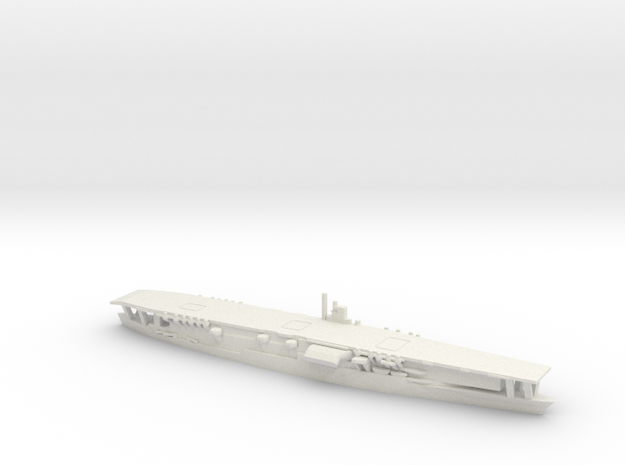 Japanese Aircraft Carrier Akagi in White Natural Versatile Plastic: 1:1800