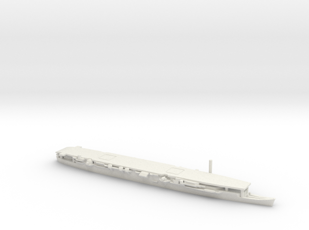 Japanese Aircraft Carrier Zuiho (Short Deck) in White Natural Versatile Plastic