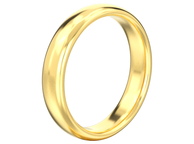 Simple wedding ring  in 14K Yellow Gold