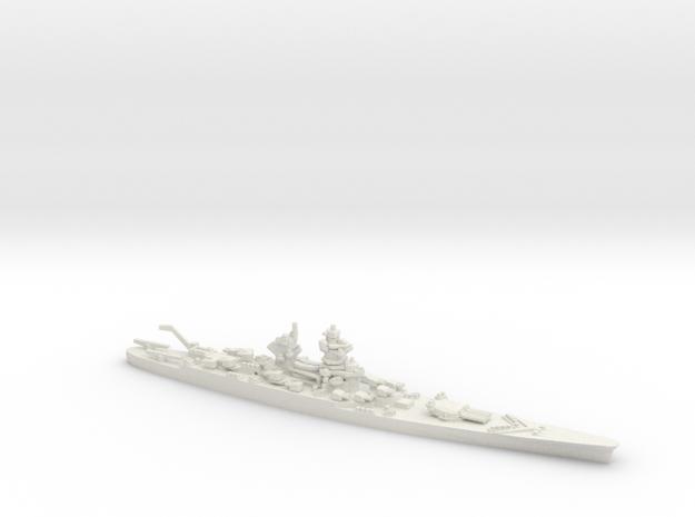 French Battleship Jean Bart (hypothetical) in White Natural Versatile Plastic: 1:1800