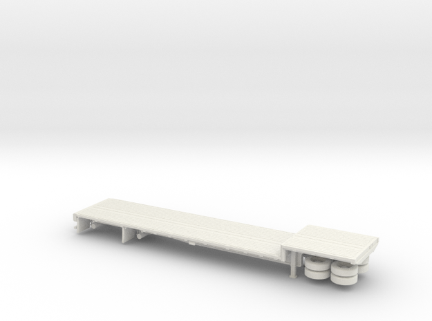 1/72 48' Dropdeck Flatbed Semi Trailer in White Natural Versatile Plastic