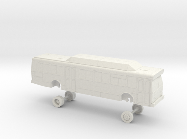 HO Scale Bus Orion V Sonoma County 332-341 in White Natural Versatile Plastic