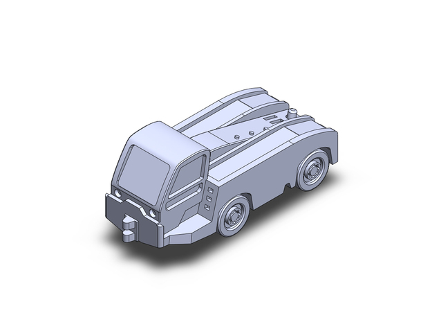 Tmx150 tractor in Smoothest Fine Detail Plastic: 1:200