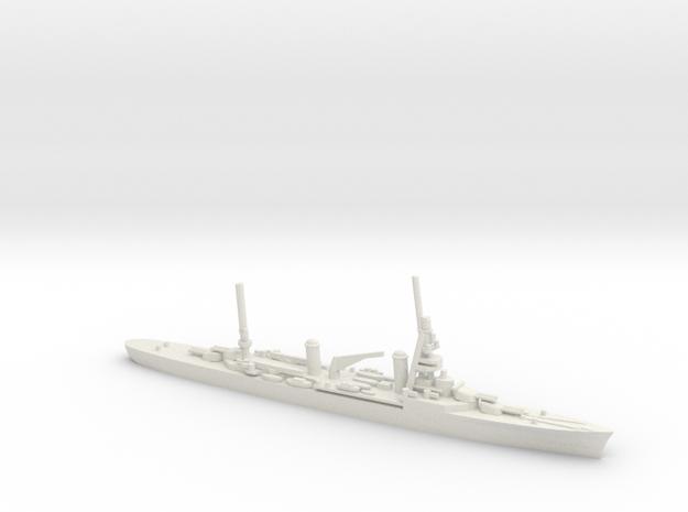 French Suffren-Class Cruiser in White Natural Versatile Plastic: 1:1800
