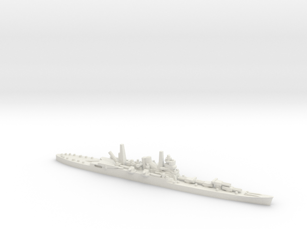 Japanese Tone-Class Cruiser in White Natural Versatile Plastic