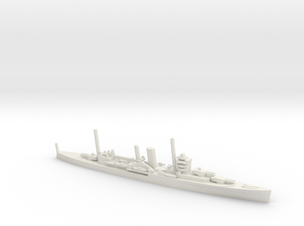 British York-Class Cruiser in White Natural Versatile Plastic