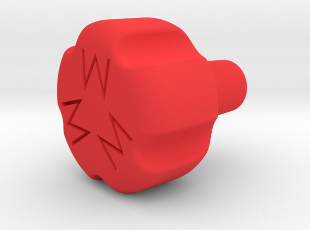 """1.45"""" 10-32 MIXTURE KNOB in Red Processed Versatile Plastic"""