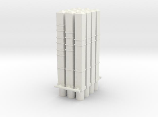 piquet 1-2-3 trais plus petit  PN epoque 2 3 4 en  in White Natural Versatile Plastic: 1:43.5
