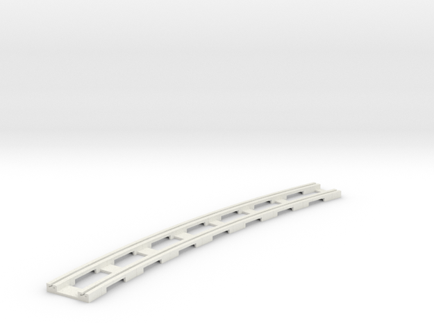 p14tr-curve-2r-long in White Natural Versatile Plastic