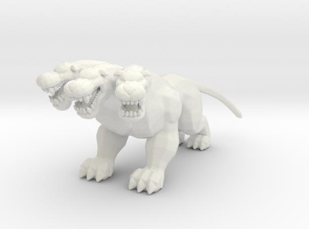 Hercules Cerberus guardian DnD miniature games rpg in White Natural Versatile Plastic