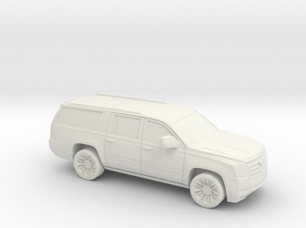 1/72 2015-18 Cadillac Escalade XL in White Natural Versatile Plastic