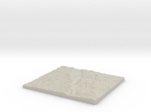 Model of Lake Lois in Natural Sandstone