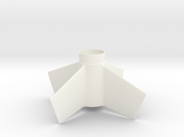 Goblin-style Fin Unit BT55 for 24mm motors in White Strong & Flexible Polished