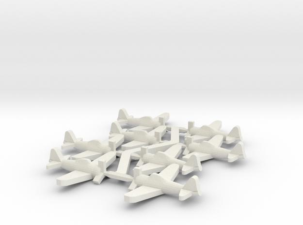 Japanese A6M Zero Fighter in White Natural Versatile Plastic: Small