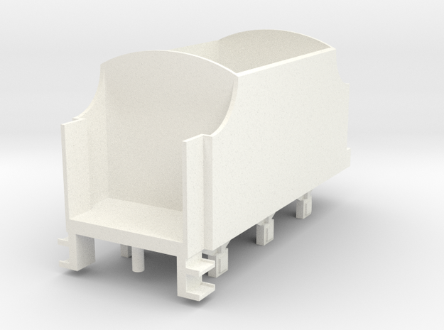 OO Scale NWR #4 Tender No Lining in White Processed Versatile Plastic