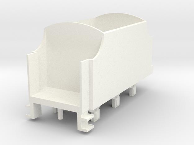 OO Scale NWR #4 Tender in White Processed Versatile Plastic