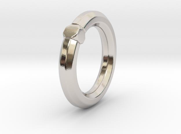 Octavius Ochuko - Ring in Rhodium Plated Brass: 6 / 51.5
