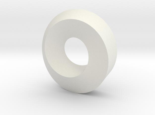 3D Möbius Strip in White Natural Versatile Plastic