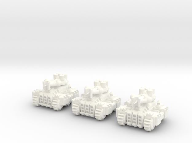 6mm - Steam Lightning Tank in White Processed Versatile Plastic