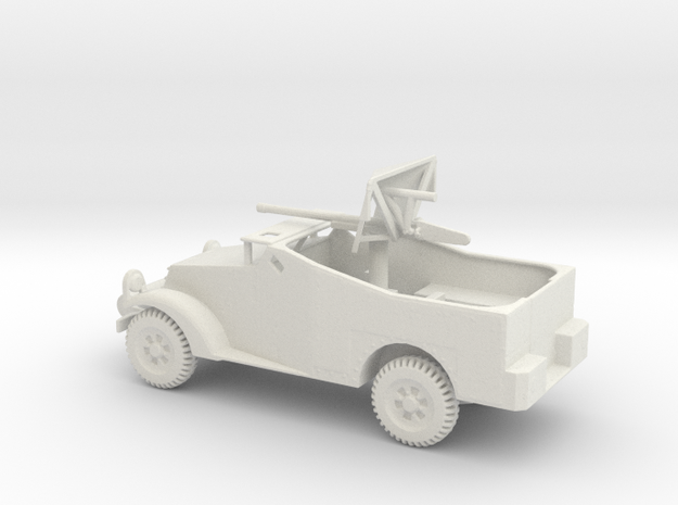 1/72 Scale M2 Scout Car with 37mm Gun in White Natural Versatile Plastic