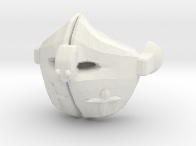 Helmet FaceMask1cm in White Natural Versatile Plastic