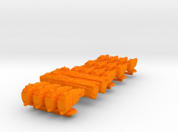 Sigma Battle Group 2 - Fleet Scale in Orange Processed Versatile Plastic
