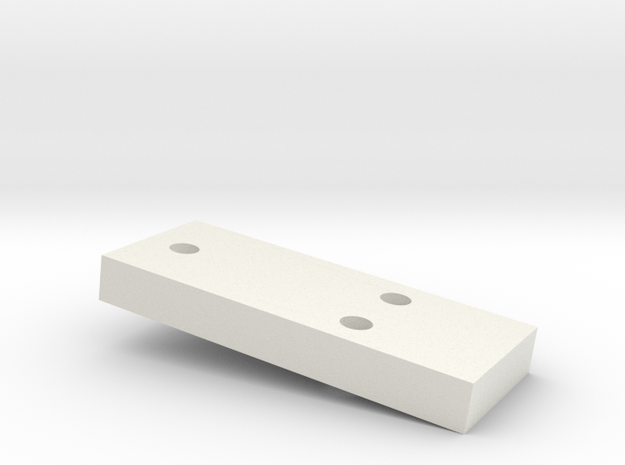 5mm CREEPER SPACER in White Natural Versatile Plastic
