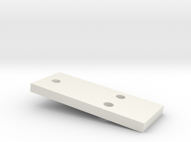 3mm CREEPER SPACER in White Natural Versatile Plastic