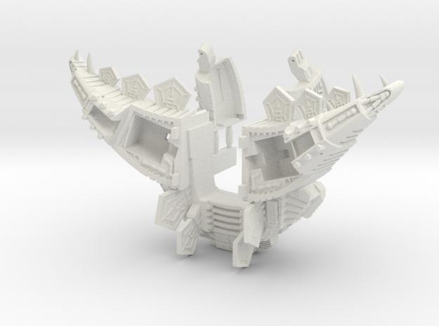 POTP Volcanicus Stego Armor - PE Compatible! in White Natural Versatile Plastic