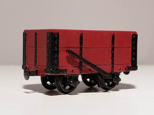 NWNGR 2 Plank Wagon 5.5mm in Smooth Fine Detail Plastic