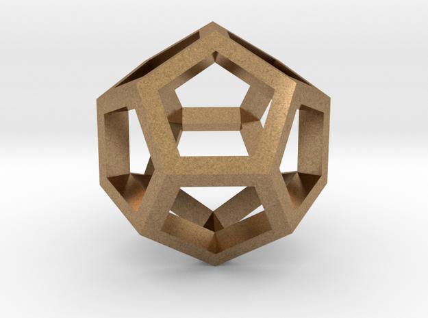 Dodekaedron Stege in Raw Brass