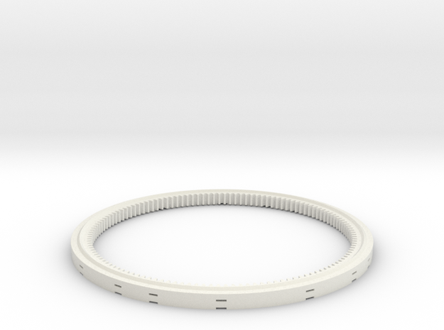 Turntable support 17studs diameter in White Natural Versatile Plastic