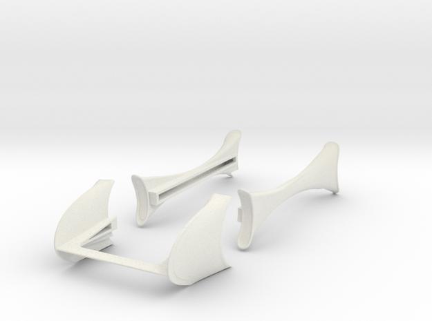 Standard Wheelbase Fenders in White Natural Versatile Plastic