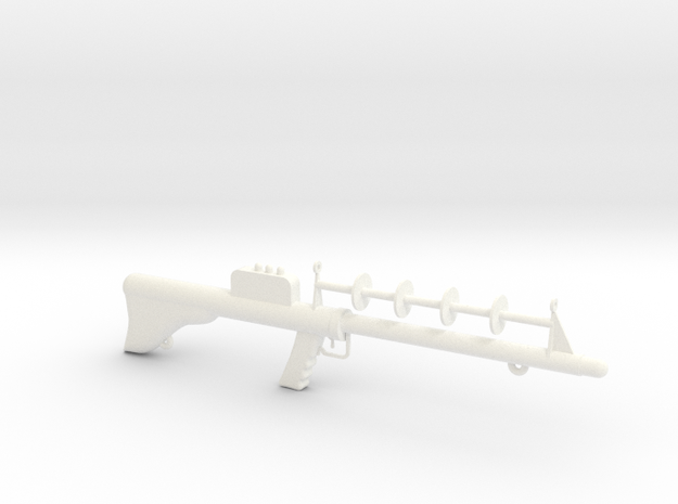 Lost in Space Season 1 Laser Rifle with eyelet in White Processed Versatile Plastic