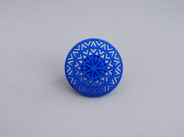 Motif Ring in Blue Strong & Flexible Polished
