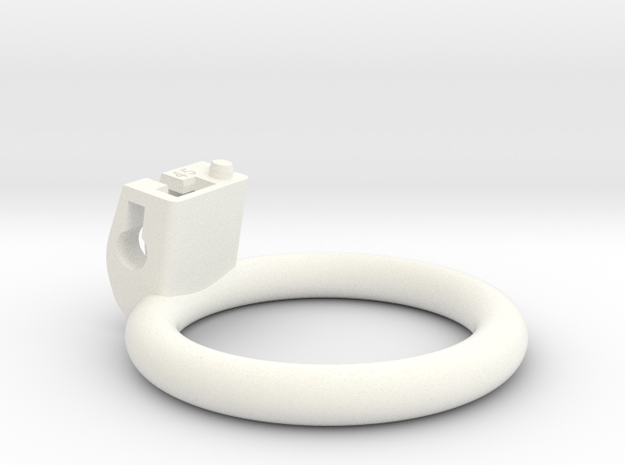 Cherry Keeper Ring - 45mm Flat in White Processed Versatile Plastic